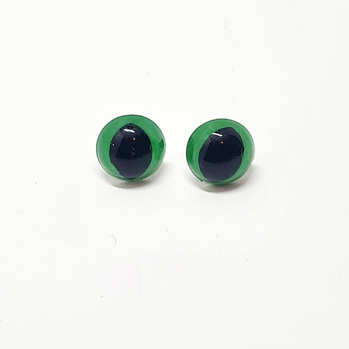 Green Safety Cat's Eyes 14mm
