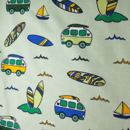 Jersey Cotton Camper Van Print