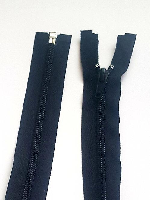 Black Nylon Open End Zip