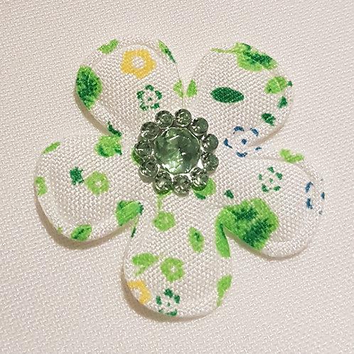 Green Jewel Flower Appliqué