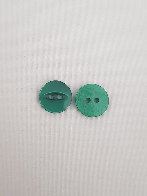 Green Two Hole Button with Oval Design