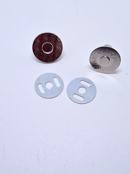 Magnetic Snap Fasteners 18mm  Black Nickel