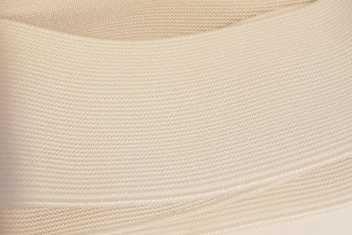 50mm White Woven Elastic
