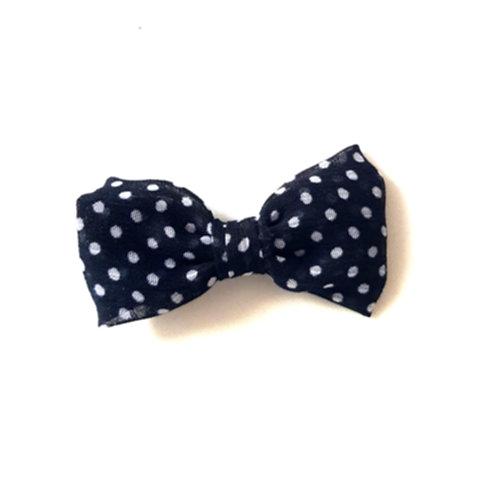Black & White Polka Dot Clip BOW