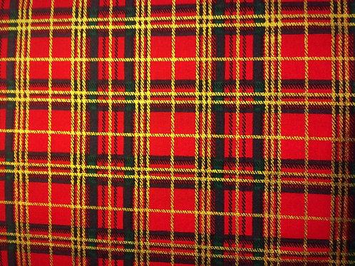 Christmas Tartan Fabric 100% Cotton