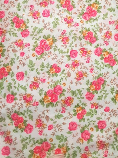 Pink Floral 100% Cotton  Print