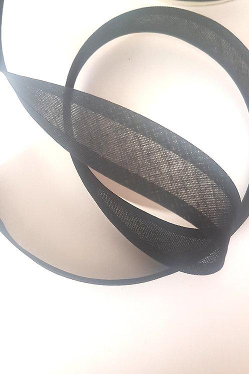 Black Cotton Bias Binding