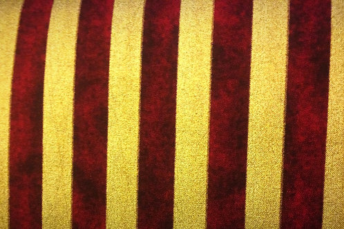 Christmas / Theatrical Gold & Red Stripe Fabric