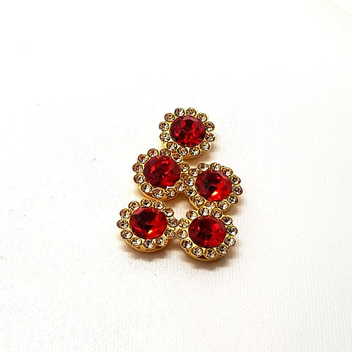 12mm Red Rhine-Stone Claw Cup