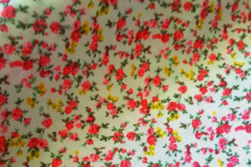 Pink & Yellow Floral 100% Cotton Print
