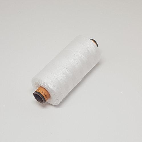 White Amann 1000m Machine Thread