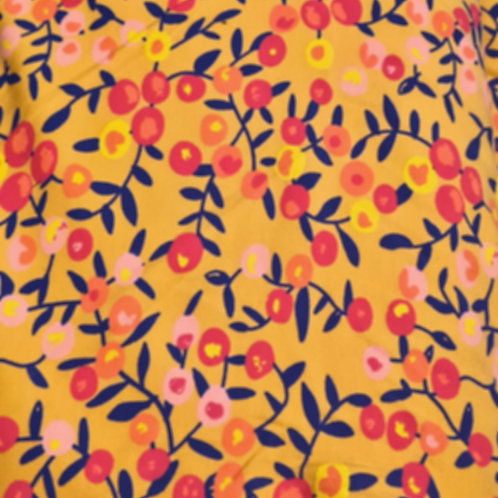 Yellow Floral Jersey Cotton Print