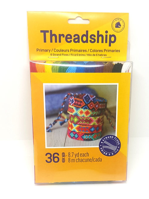 Embroidery Thread Pack - Primary Colours