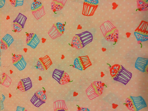 Cup Cake Cotton Fabric