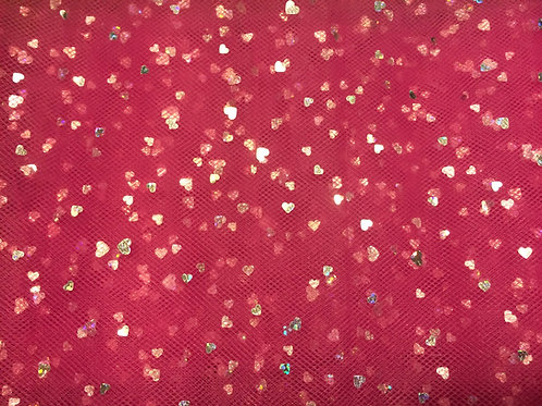 Pink Sequins Tulle