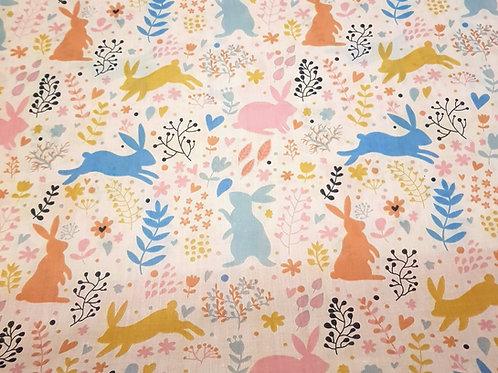 Easter Rabbit Cotton Fabric