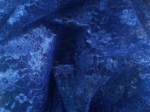 Royal Blue Flower Lace