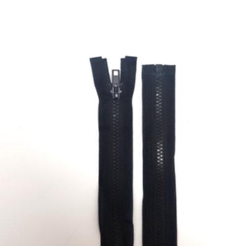 Black Open End Chunky Plastic Zip
