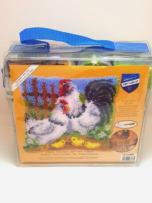 Chicken Family on Farm Latch & Hook Set