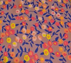 Purple Floral Jersey Cotton Print