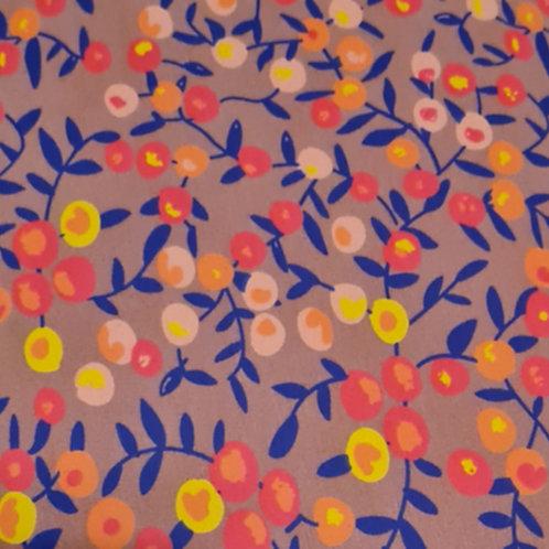 Purple Floral Cotton Jersey Print
