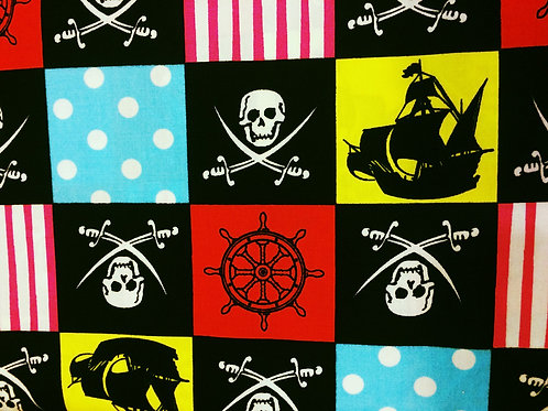 BZ Pirate Themed Cotton Fabric