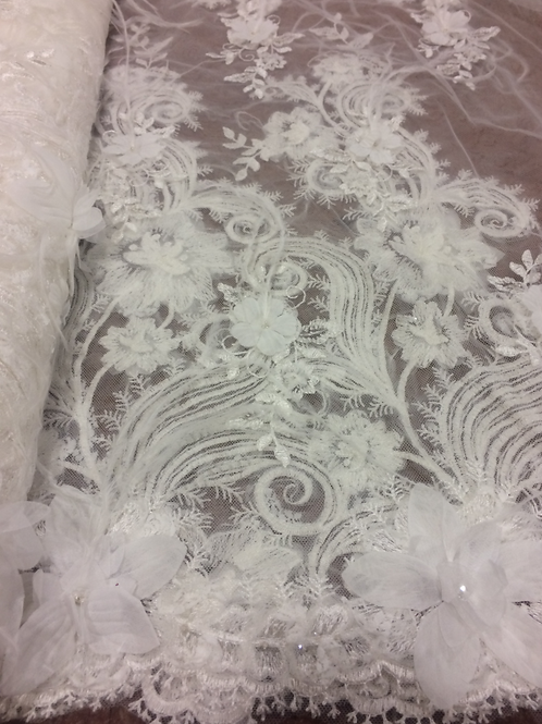 Ivory - Shannon Embroidered Tulle Lace