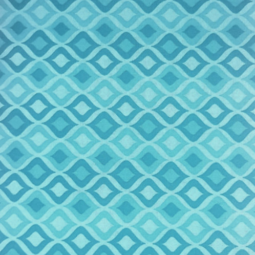 Blue Diamond Cotton Print