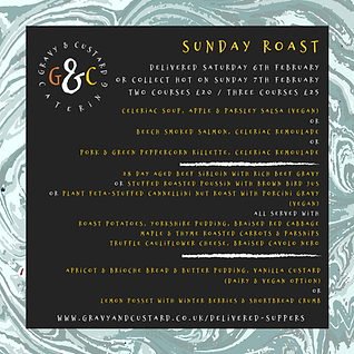 G&C - Delivered Suppers - Sunday Roast (
