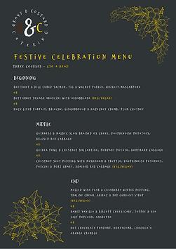 G&C - Festive Celebration Menu (2020) Up