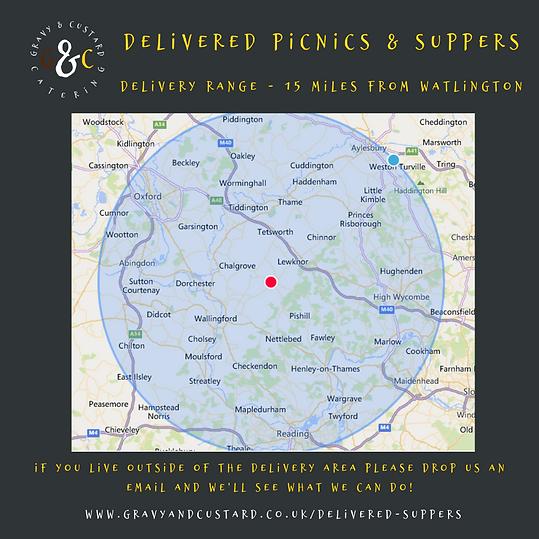 G&C - Delivered Picnics - Delivery Range