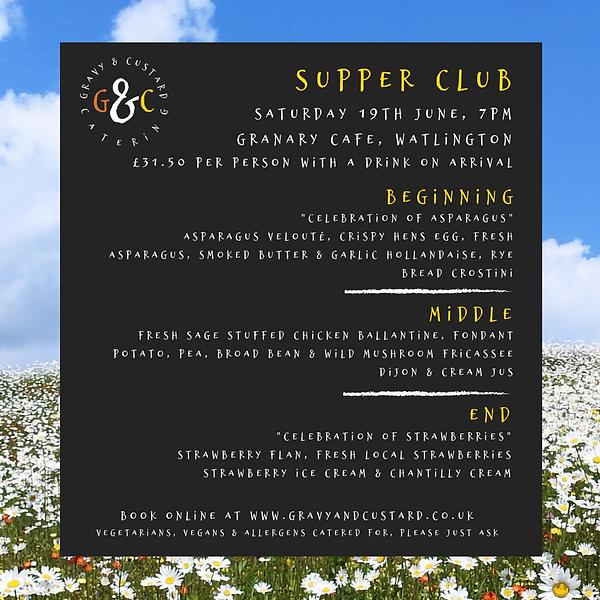 G&C - Supper Club - Granary - Sat 19th J