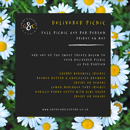 Delivered Picnic - Sweet Treats - Friday 4 June
