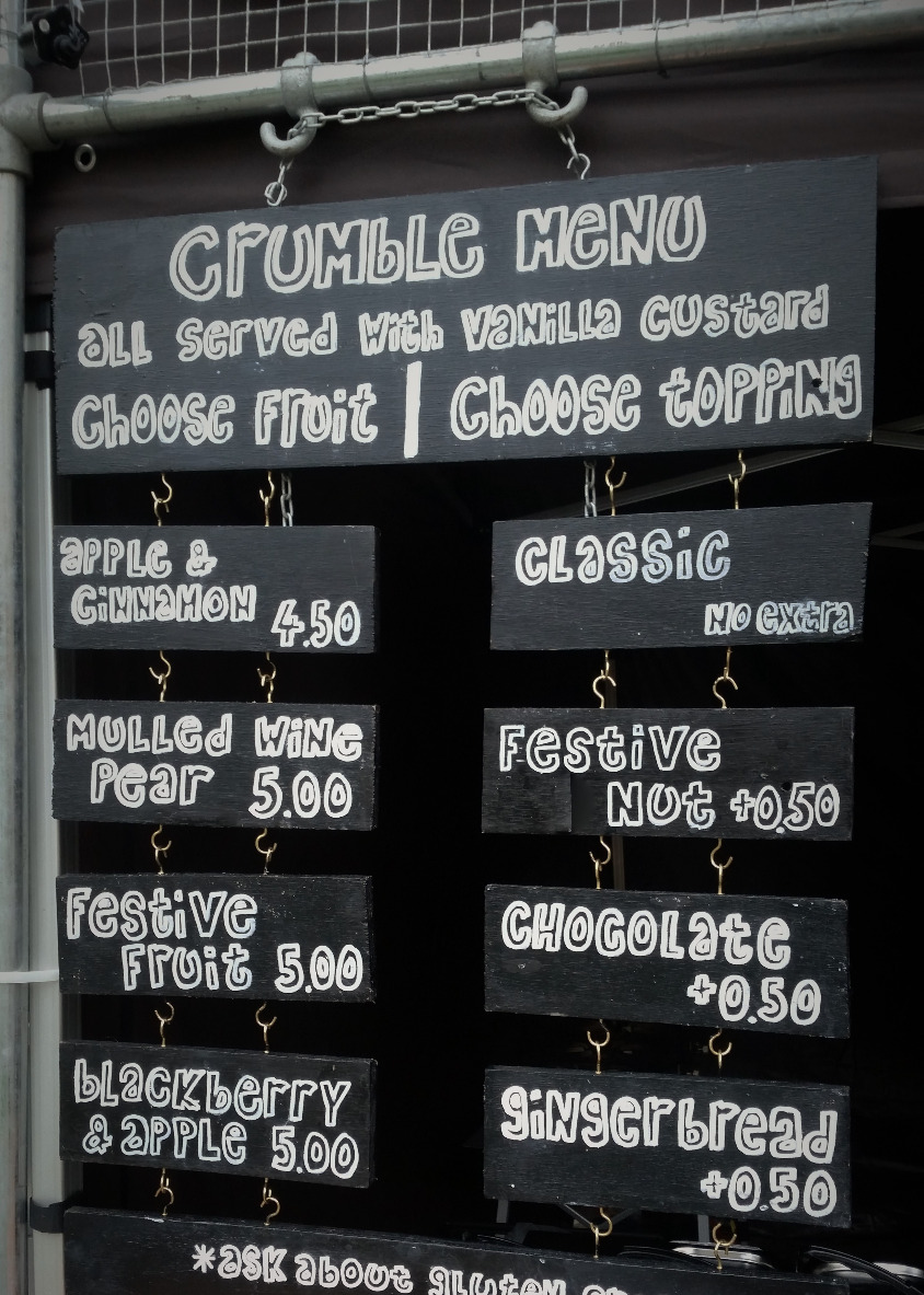 Crumble Shack Menu