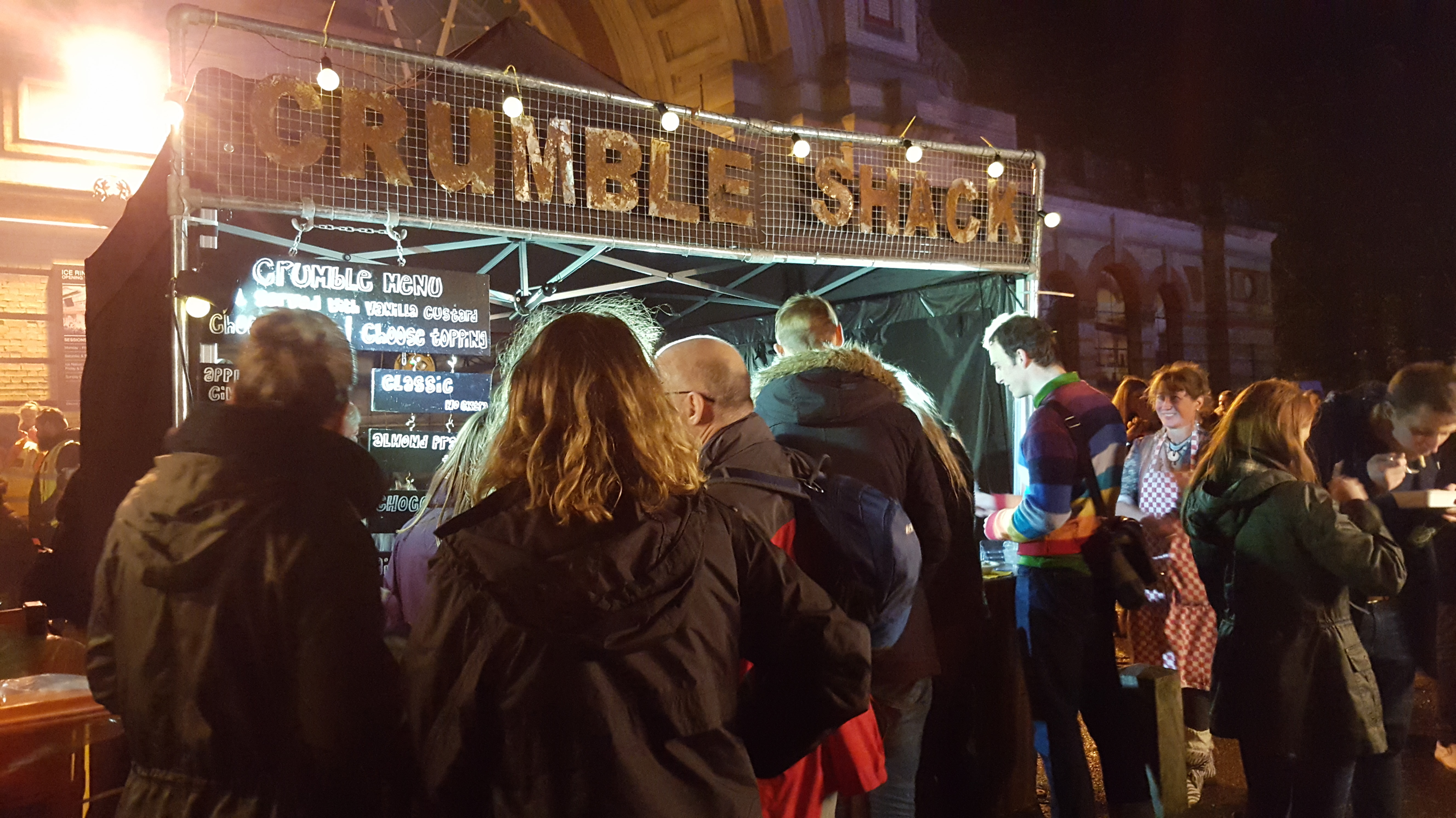 Crumble Shack at Alexandra Palace