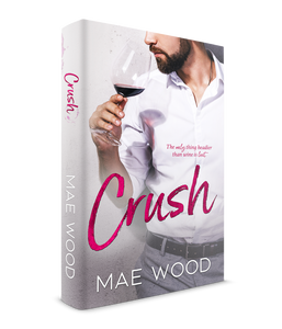 3D rendering of paperback Crush by Mae Wood
