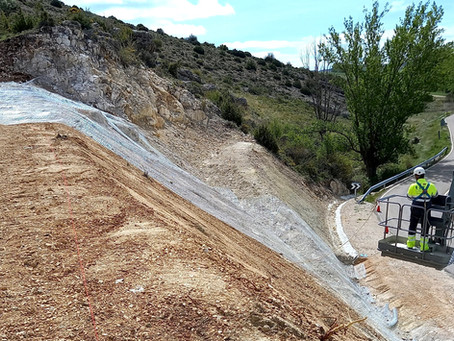 Estabilización de talud en Fonfría, Teruel