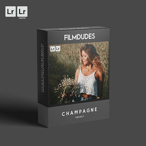 FILMDUDES Preset | CHAMPAGNE (Lightroom Desktop & Mobile)