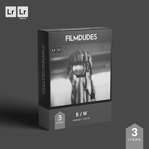 FILMDUDES Preset-Pack | BLACK & WHITE (Lightroom Desktop & Mobile)
