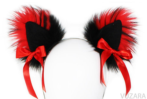 Black/Red Ears with Bows