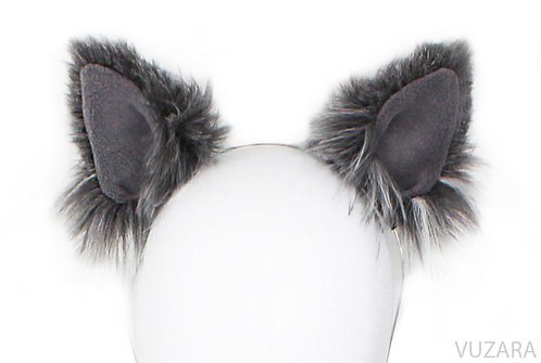 Mixed Grey Cat Ears