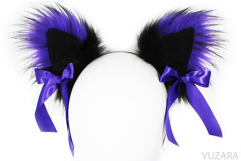 Black/Purple Ears with Bows