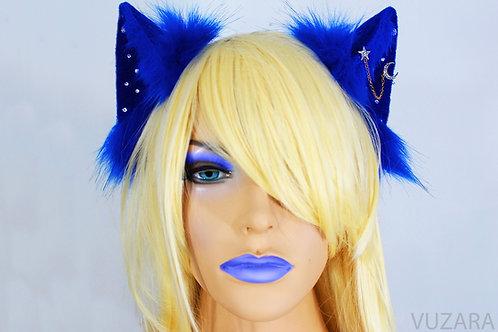 Blue Sky Fox Ears / Cat Ears- Poseable