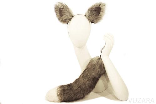 Faux Grey Fox Tug Tail