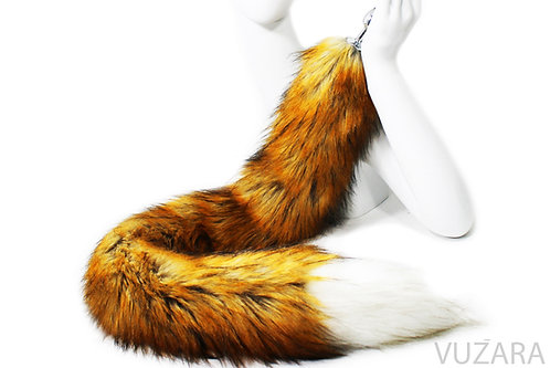 "40"" Faux Red Fox Tail Floor Dragger"