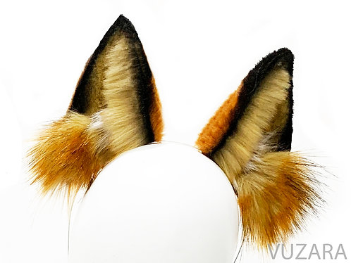 Red Fox Wired / Poseable Wolf Ears/ Cat Ears