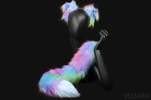 Galaxy Fox Tug Tail & Wired Ears Set