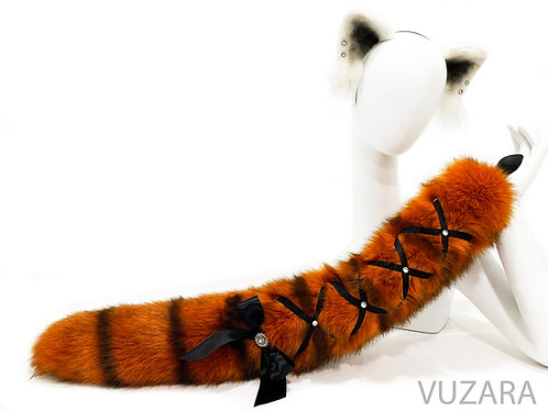 Red Panda Corset Tail & Ears Set