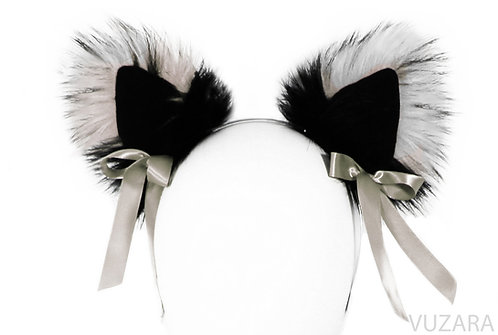 Black/Gray Ears with Bows