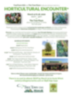 Horticultural Encounter 2020 Fort Worth.